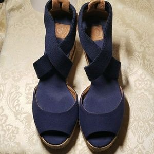 Tory Burch spadrille wedges size 8